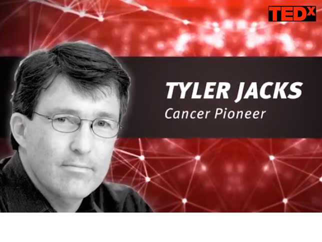 "Life Lessons from 34 Years of Fighting Cancer - inspirational talk from our own fearless leader Tyler Jacks at TEDxCambridge. <a href=""http://www.tedxcambridge.com/portfolio-item/tyler-jacks/"" style=""color: #6699FF"">Watch video</a>"